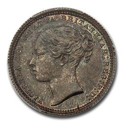 1872 Great Britain Silver Shilling Queen Victoria MS-66 PCGS