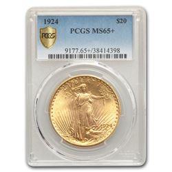1924 $20 Saint-Gaudens Gold Double Eagle MS-65+ PCGS