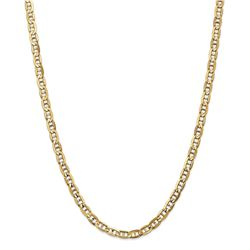 14k White Gold 5.25 mm Concave Anchor Chain - 20 in.