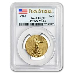2013 1/2 oz Gold American Eagle MS-69 PCGS (FS)