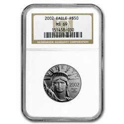 2002 1/2 oz Platinum American Eagle MS-69 NGC