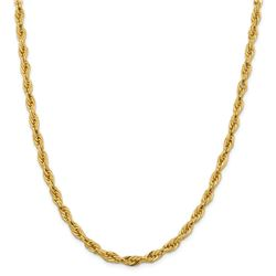 10k Yellow Gold 5.4 mm Semi-Solid Rope Chain - 26 in.