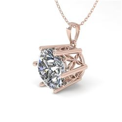 1 ctw Certified VS/SI Diamond Solitaire Necklace 18k Rose Gold