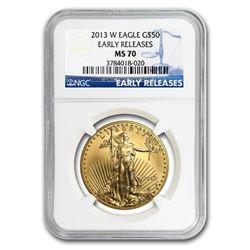 2013-W 1 oz Burnished Gold Eagle MS-70 NGC (ER/FR)