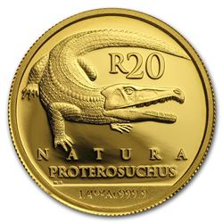 2018 South Africa 1/4 oz Gold Natura Proterosuchus