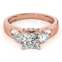 1.35 ctw VS/SI Princess Cut Diamond 3 Stone Ring 14k Rose Gold