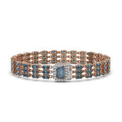 26.02 ctw London Topaz & Diamond Bracelet 14K Rose Gold