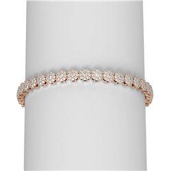 8 ctw Diamond Bracelet 18K Rose Gold