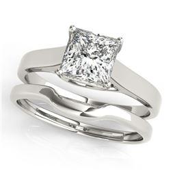 0.75 ctw VS/SI Princess Diamond 2pc Wedding Set 14k White Gold