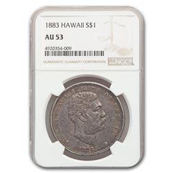 1883 Hawaii Dollar Kalakaua I AU-53 NGC