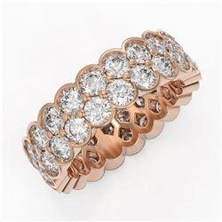 5.5 ctw Diamond Designer Eternity Ring 18K Rose Gold