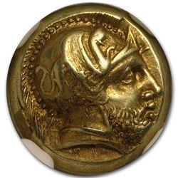 Lesbos, Mytilene EL Hecte Ares/Amazon (412-378 BC) AU NGC