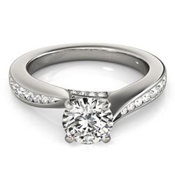 1.11 ctw Certified VS/SI Diamond Solitaire Ring 14k White Gold