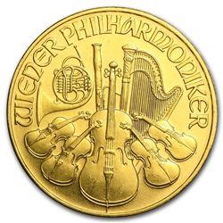 1992 Austria 1/4 oz Gold Philharmonic BU