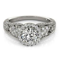 1.25 ctw Certified VS/SI Diamond Halo Ring 18k White Gold