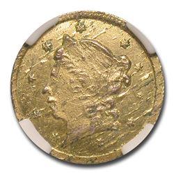 1859 Liberty Round 25 Cent Gold MS-61 NGC (BG-801)