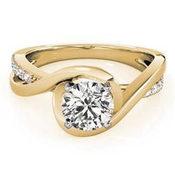 0.65 ctw Certified VS/SI Diamond Ring 18k Yellow Gold