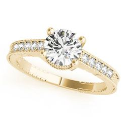 0.97 ctw Certified VS/SI Diamond Solitaire Antique Ring 14k Yellow Gold