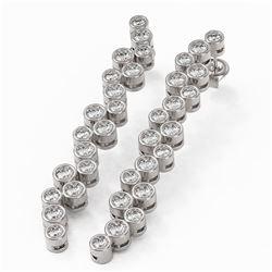 3.72 ctw Diamond Designer Earrings 18K White Gold