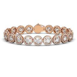 13.42 ctw Diamond Micro Pave Bracelet 18K Rose Gold
