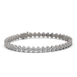9 ctw Diamond Designer Bracelet 18K White Gold