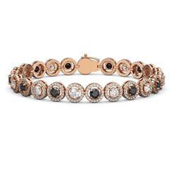 8.83 ctw Black & Diamond Micro Pave Bracelet 18K Rose Gold