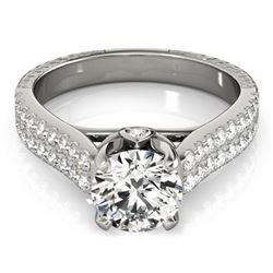 1.61 ctw Certified VS/SI Diamond Pave Ring 14k White Gold