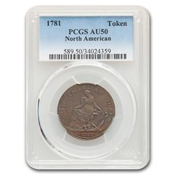 1781 North American Token AU-50 PCGS