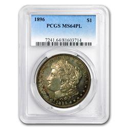 1896 Morgan Dollar MS-64 PL PCGS