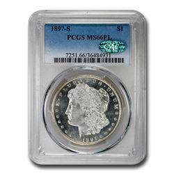 1897-S Morgan Dollar MS-66 PCGS CAC (PL)