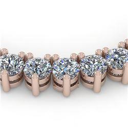 48 ctw 3 Prong Diamond Riviera Necklace 18K Rose Gold