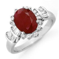 2.22 ctw Ruby & Diamond Ring 18k White Gold