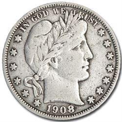 1908-S Barber Half Dollar VF