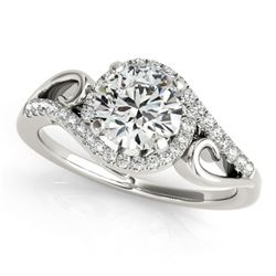 1.25 ctw Certified VS/SI Diamond Solitaire Halo Ring 18k White Gold