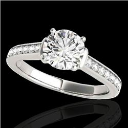 1.5 ctw Certified Diamond Solitaire Ring 10k White Gold