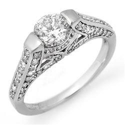 1.42 ctw Certified VS/SI Diamond Ring 14k White Gold