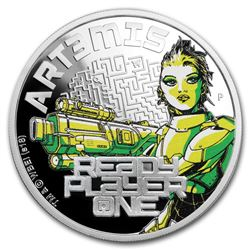 2018 Tuvalu 1 oz Silver Ready Player One Art3mis Proof