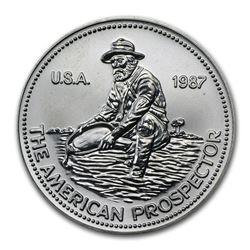 1987 1 oz Silver Round - Engelhard Prospector (Eagle Reverse)