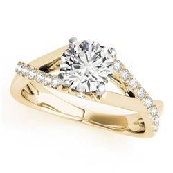 0.77 ctw Certified VS/SI Diamond Solitaire Ring 14k Yellow Gold