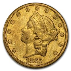 1865-S $20 Liberty Gold Double Eagle VF