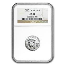 1/4 oz Platinum American Eagle MS-70 NGC (Random Year)
