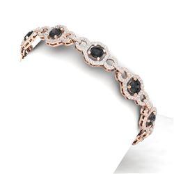 12 ctw Black & White Diamond Bracelet 18K Rose Gold
