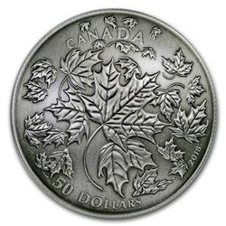 2018 Canada 5 oz Silver Maple Leaves in Motion