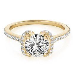 1.33 ctw Certified VS/SI Diamond Halo Ring 14k Yellow Gold