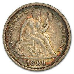 1889 Liberty Seated Dime XF