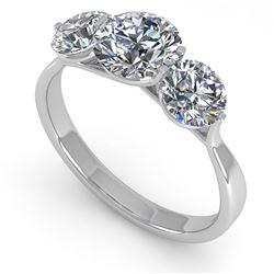 2 ctw Past Present Future VS/SI Diamond Ring Martini 18k White Gold