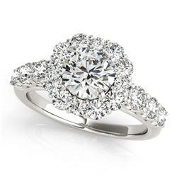 2.25 ctw Certified VS/SI Diamond Halo Ring 18k White Gold