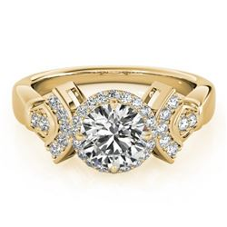 1.56 ctw Certified VS/SI Diamond Solitaire Halo Ring 14k Yellow Gold
