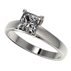 1.25 ctw Certified VS/SI Quality Princess Diamond Ring 10k White Gold