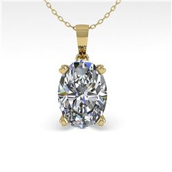 0.50 ctw VS/SI Oval Diamond Necklace 14k Yellow Gold